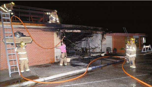 Early Morning Fire Destroys Downtown Sulphur Bakery