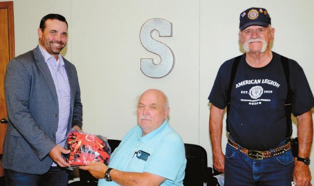 Legion Post 148 Donates Bulldog-Themed Face Masks To School