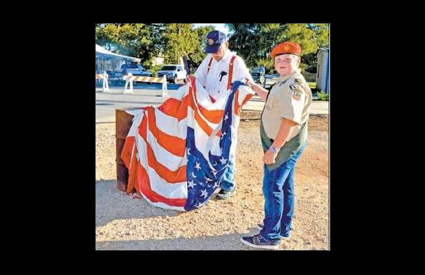 Legion, Scouts Conduct Flag Retirement Ceremony