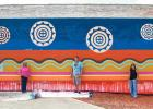 Tribe Artist Transforms Fashion Designs Into Public Street Art With New Mahota Textiles Mural
